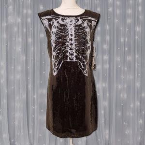 Rodarte for Target Sequin Rib Cage Dress Black NWT